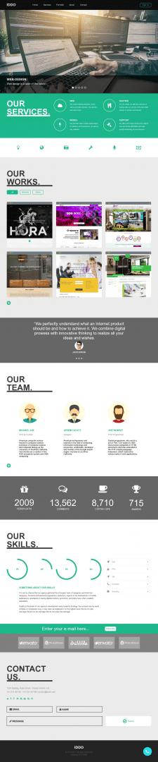 Сайт - портфолио фирмы