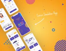 UI Design for Career Game App