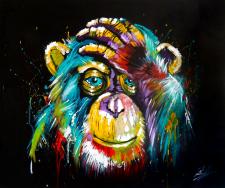 Задумчивая шимпанзе