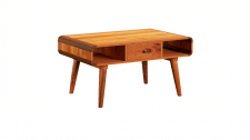 Drawer Curved Coffee Table