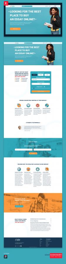 Concept re-design homepage justbuyessay.com