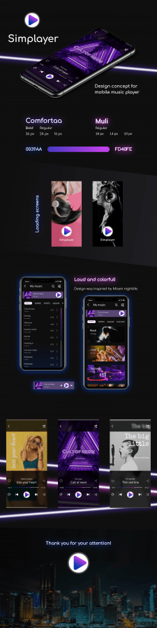 Simplayer - music player design concept