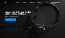 Дизайн LandingPage студии звукозаписи