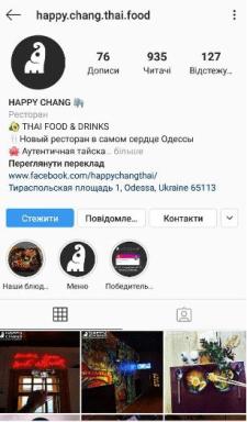 Продвижение тайского кафе в Instagram