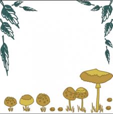 красивые грибы и листочки
