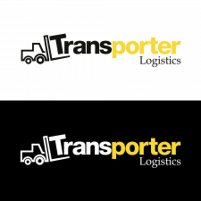 Transporter logistics logotype