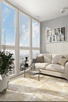 Дизайн лоджии в трехкомнатной квартире. г. Киев