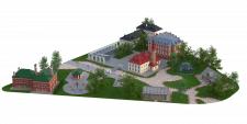 """Визуализация этнодвора в парке """"Этномир""""."""