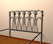 разработка, моделирование изголовья кованой ровати
