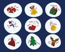 Рождественские стикеры