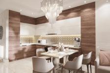 Визуализация кухни-гостиной