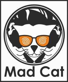 Логотип Mad Cat – бренд для молодых и активных.
