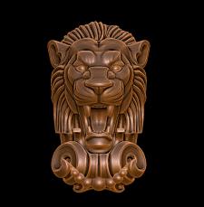 Лев. Капитель. Модель для 3d печати