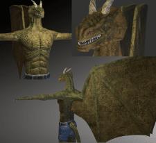 Игровой персонаж человекоподобного дракона