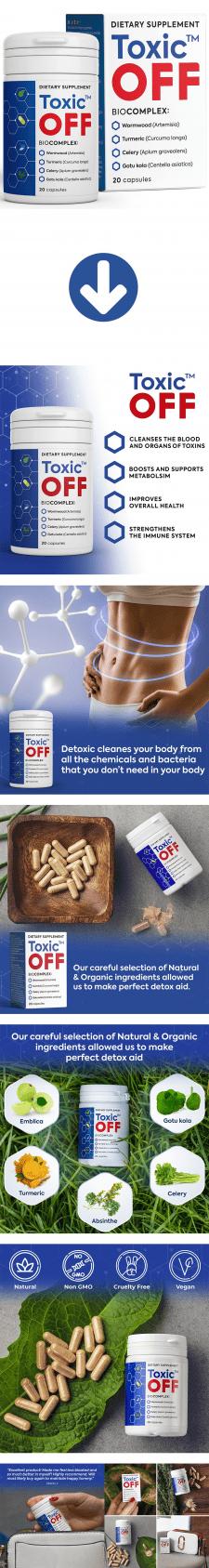 Листинг Amazon - Toxic Off Detox Herbal Supplement