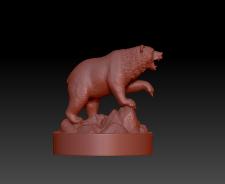 3д-скульптура Медведь/Bear под дальнейшее литье