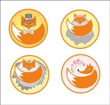 Логотип для сайта свадебных услуг Фокси