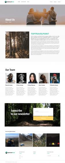 Адаптивная верстка страницы About под WordPress