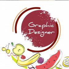 """Иллюстрация для найклейки """"Крем фруктовый"""""""