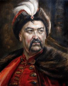 Копия портрета Богдана Хмельницкого