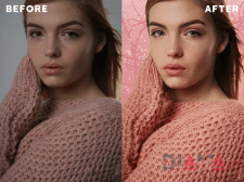 Photo processing for Punch Skin Care company