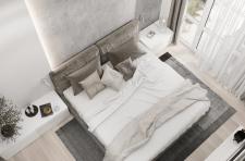 Дизайн спальни в двухуровневой квартире