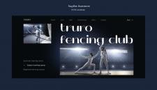 Концепция 1 экрана для сайта фехтовального клуба