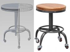 Модель стула на роликах