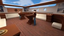 Low poly комната на яхте