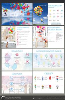 дизайн презентации для компании шаров