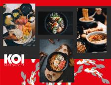 """Фирменный стиль для японского ресторана """"KOI"""""""