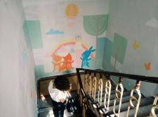 Роспись стены для детского центра
