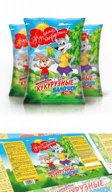"""Дизайн упаковки для кукурузных палочек """"Ну, похрус"""
