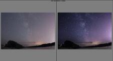Обработка ночного пейзажа