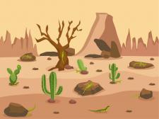Вектор пустыня пейзаж