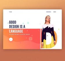 Сайт-визитка портфолио дизайнера