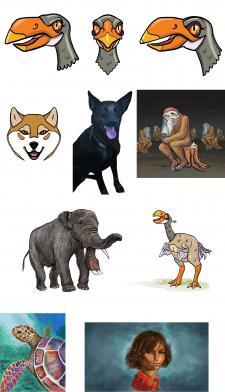 Примеры персонажей и аватарок