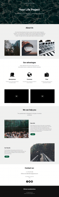 Your Life Project - landing page
