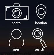Пример контурных иконок