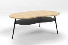 Table basse double plateau oak black