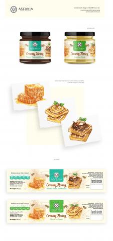 Дизайн этикетки медовой пасты