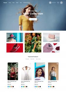 Одностраничный онлайн магазин