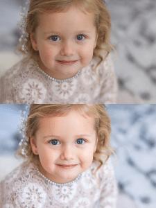Ретушь детского портрета