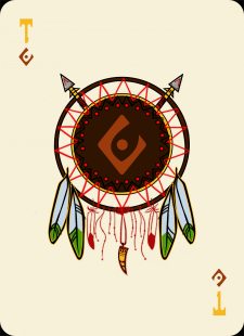 Spielkarten Indians- Farbig15