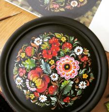 Декоративний розпис тарілки