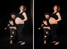 Ретушь семейного портрета