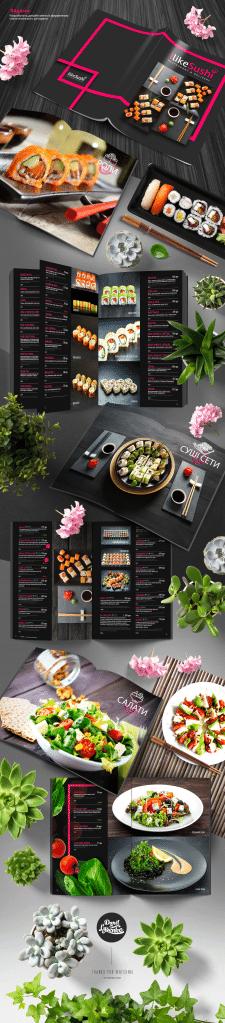Разработка дизайна меню для японского ресторана