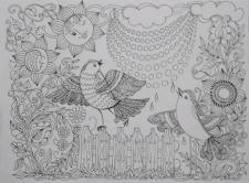 Ескіз розмальовки- антистресу