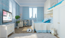 Дизайн детской спальни в холодных тонах