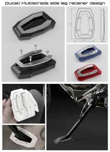 Side leg retainer for Ducati Multistrada